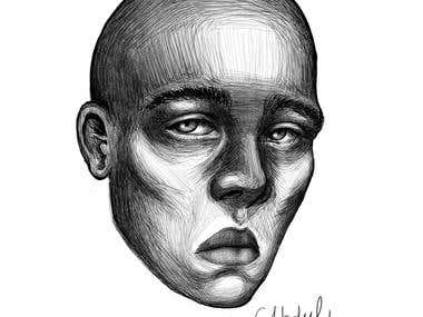 sad face created by me