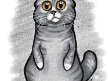 cute kitten . by me