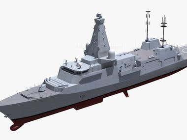 3D Model of Navy Ships