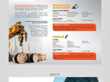 Brochure design for Industrial Supplies Company