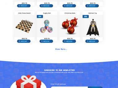 toys4kid Website Design