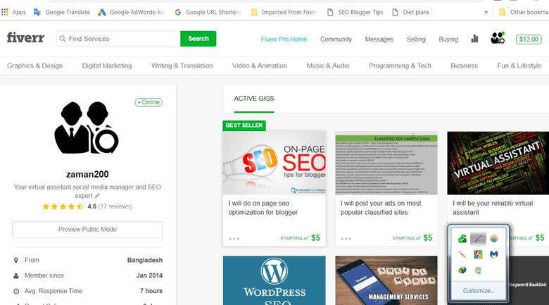 My FIVERR account activities and clients reviews | Freelancer