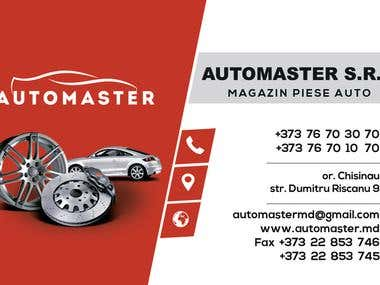 AutoMaster logo and business card design