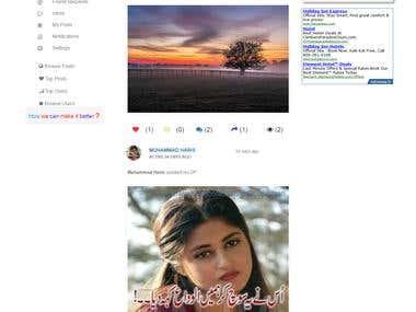 A Social Networking Website