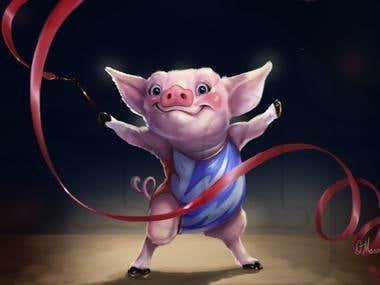 little pig gymnast