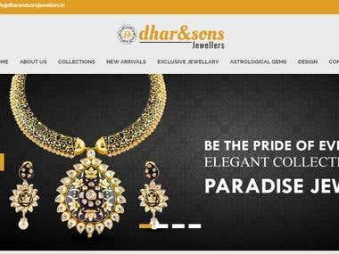 Jewellery shop website