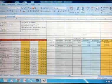 Excel Work & Data Entry Project