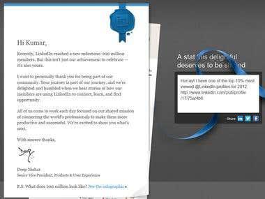 Top 10% Viewed @ Linkedin Profies for 2012