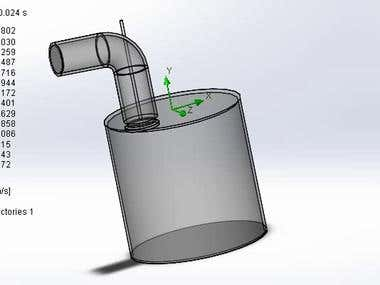 Valve lift test on flow-bench with the help of solidworks