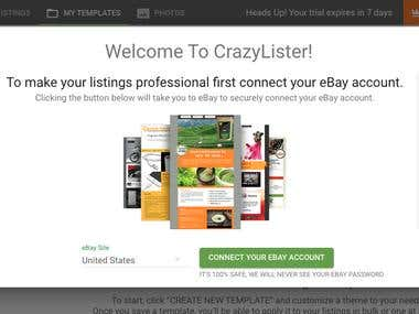 Product listing using CrazyLister