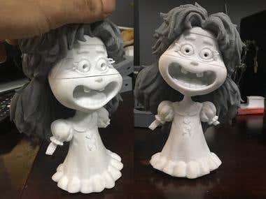 Funny cartoon girl