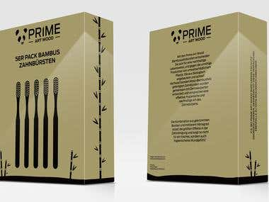 Toothbrush 5 pack Package Design Project
