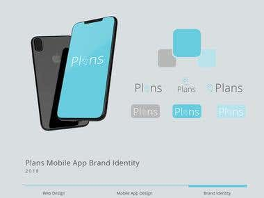 Plans Mobile App Brand Identity