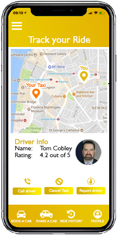 GetTaxi Application