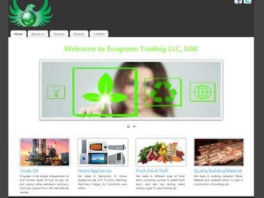 Web Design for an Oil Company