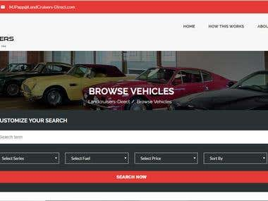 Vehicle selling site
