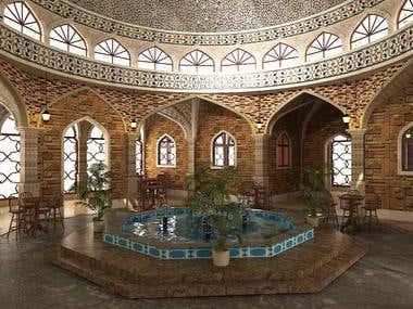 Islamic restaurant Design