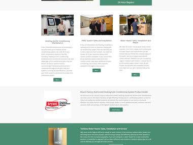 Responsive design for HVAC Website