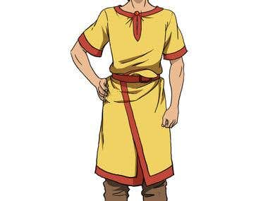 Character Design 2D Hang Tuah