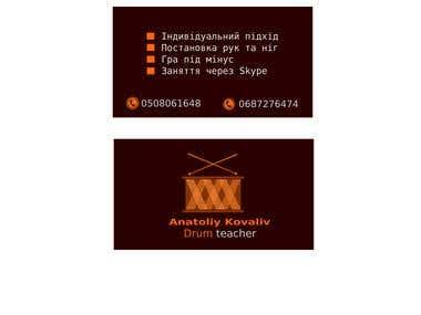 Business card for music teacher