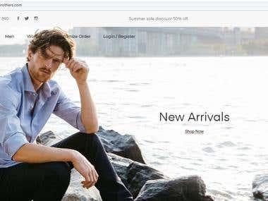 e-commerce shop with few customization