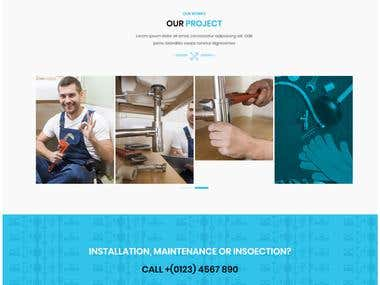 Wordpress Plumber Website design