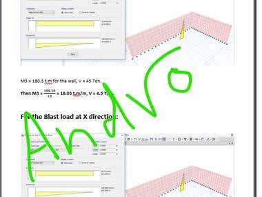 Time History Non linear analysis of Blast effect on RC wall.