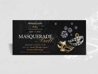 An invitation to a masquerade ball