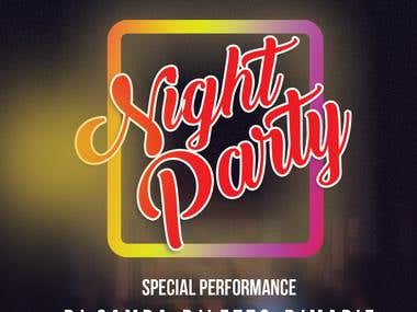 Poster design for Night party