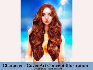 Character , Concept Art - illustration - Cover design