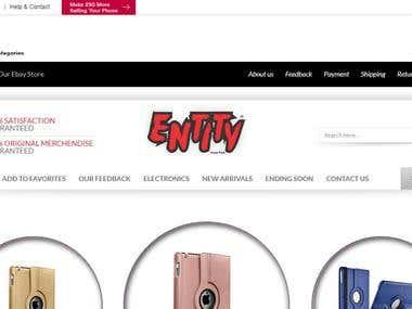 ENTITY-Trade-Park ( Custom eBay Front Shop Design )