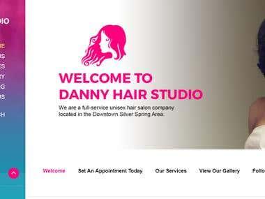 DANNY HAIR STUDIO ( WordPress Website Updates )