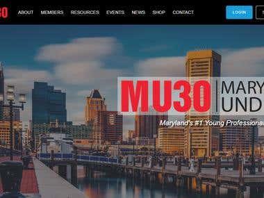 MARYLAND UNDER 30 ( WordPress Website Updates )