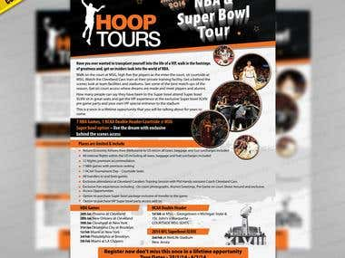 Contest Winning Flyer for Hoop Toors, Australia