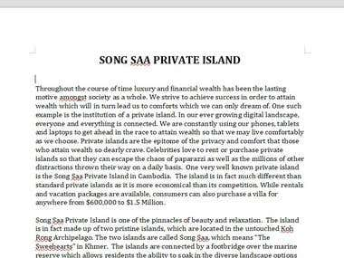 Article: SONG SAA PRIVATE ISLAND