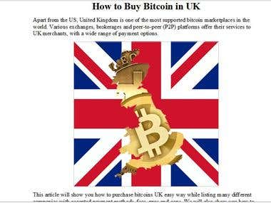 Article: How to Buy Bitcoin in UK