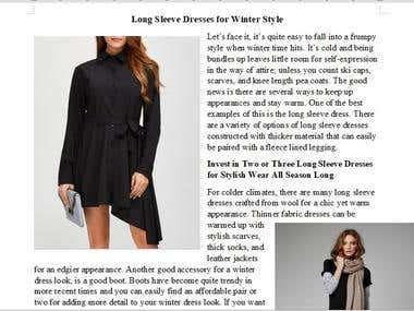 Article: Long Sleeve Dresses for Winter Style