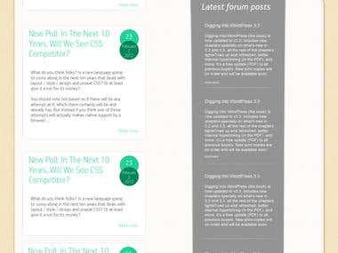 Web/Template Designs