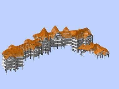 Rustic hotel superstructure