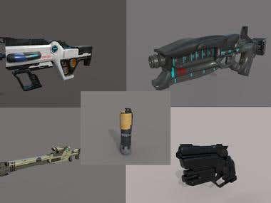 Sci fi guns model