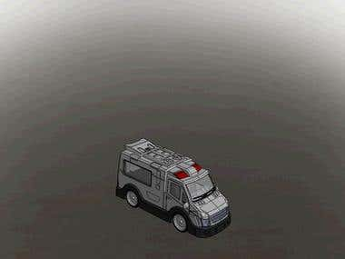 Simple animation Ambulance Car Toy