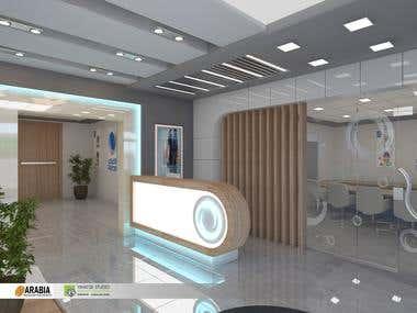 Paltel Group Reception Interior Design