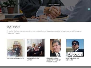 website for Qanoon Web