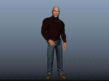 Dwayne The Rock Johnson 3D Modelling