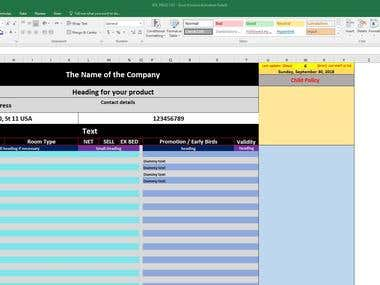 Excel Redesign