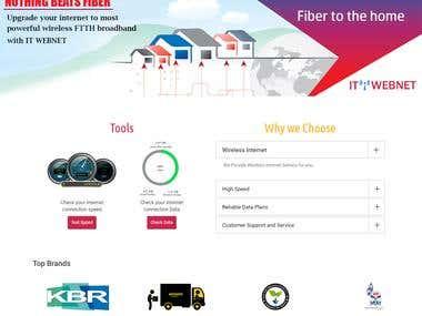 Broadband/ISP provider business website