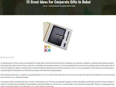 Product Descriptions for Corporate Gifts Supplier