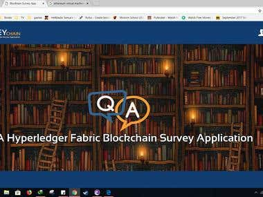 Blockchain Based Survey App