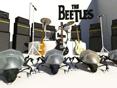 Afiche The Beetles