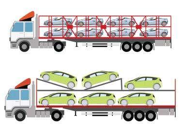 Adobe Illustration Trucks